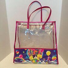 Lisa Frank Tote Bag Cat Casey Dog Clear Handbag Purse Kittens Balloon Hot Air