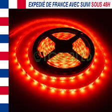 LED STRIP RUBAN BANDE 5M 12V 300 LED 2835 ROUGE 60 LED/M ETANCHE IP65 3528 FR