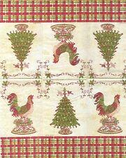 2 Serviettes en papier Invité Coq Noël Decoupage Paper Napkins HOLIDAY ROOSTER
