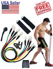 11Pcs Set Resistance Bands CrossFit Fitness Training Workout Exercise Yoga Clips
