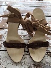 Helmut Lang Crocodile Skin Sandals Size 38.5