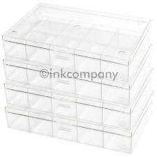4x 6er Sortierkasten / Sortierkästen / Sortierbox transparent NEU
