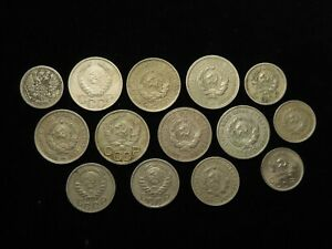Russia, Collection of 26x Coins, Empire and Soviet