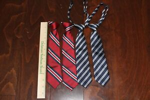 Toddler Boy Twin Ties Blue and Red