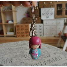 Resin Cute Doll Keychain Japanese Keychain Keyring Anime Doll Figure Small Gift
