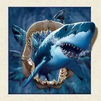 Diamond Painting 5D DIY Full Drill Shark Embroidery Cross Craft Kits Wall Decor