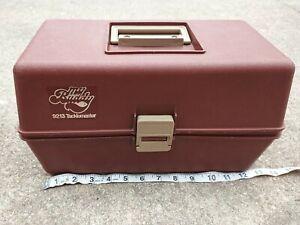 Vintage My Buddy Tacklemaster 2 Tray Tackle Box Tan/Brown  Fishing Box 9213