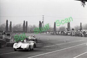 1960 SCCA road racing Photo negative Tracy Bird Maserati Monza Pomona, CA.