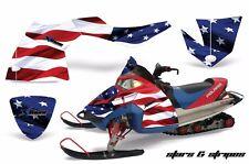 AMR Racing Sled Wrap Polaris Fusion Snowmobile Graphics Kit 2005-2007 USA FLAG