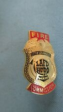 1992 Los Angeles Fire Department Fire Commission Hero Pin-Fire Fighting Tools