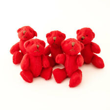 NEW - 10 X RED Teddy Bears - Small Cute Cuddly Adorable - Gift Present