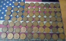 Lot of 69 Great Britain Large Penny Coins