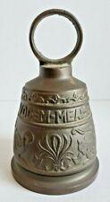 Vintage brass church bell Vocem Meme Ovime Tangit heavy ornate animal chime loud