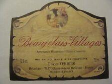 Etiquette - BEAUJOLAIS-VILLAGES - Olivier TERRIER - Saint-Amour Bellevue - (E4)