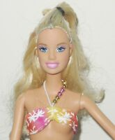 NUDE BARBIE 2005 Blonde Hair Blue Eyes 11 Inches Straight Leg and Arms Doll