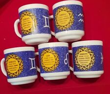 lot de 5 mug horoscope arcopal