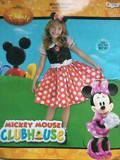 Disney's Minnie Mouse Halloween Costume Child Medium (7-8) Dress Ears Bow NEW