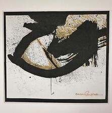 """ANSON B CAMPBELL (1918-1989) Wash DC Abstract Expressionist """"Sumi"""" Ink Painting"""