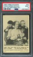1966 FLEER THREE STOOGES #45 THESE HORSE PISTOLS WILL DO ANYTHING PSA 9 *K3677