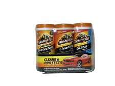 Armor All Protectant, Glass and Cleaning Wipes, 30 Count Each 3 Pack.