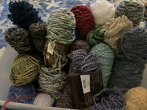 Stash Of Lionbrand Homespun Yarn Various Lengths And Colors. New.