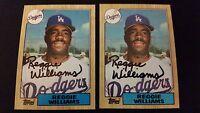 Reggie Williams Dodgers 1987 Topps #232 Indians Signed Authentic Autograph JA15