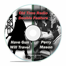 PERRY MASON + HAVE GUN WILL TRAVEL, 509 shows, FULL RUN, Old Time Radio DVD F71