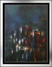 Leonardo NIERMAN LARGE Original Signed OIL PAINTING Authentic Abstract Cosmic