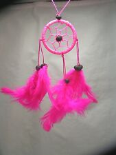 Pink Dreamcatcher, Handmade, Hand on the rear view mirror, Window, Fan