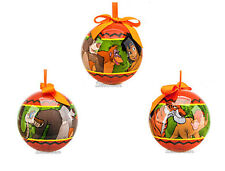 2013 DISNEY STORE JUNGLE BOOK MOWGLI BALOO DECOUPAGE CHRISTMAS HOLIDAY ORNAMENT