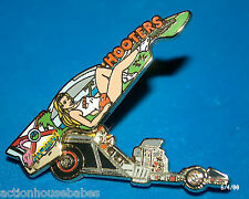 HOOTERS RESTAURANT FLORIDA DRAGSTER FUNNY CAR LAPEL PIN - BODY GOES UP AND DOWN