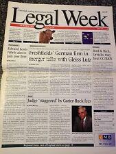 Legal Week Magazine - 28 October 1999 - magazine of the UK legal profession