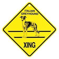 """Italian Greyhound  Xing Sign Dog Crossing NEW  10-3/4"""""""