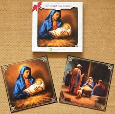 12 Religious Christmas cards, Pack of 12 Christmas cards Pack of Quality Cards