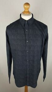 Mens French Connection Long Sleeve Button Down Shirt Size Large Slim Fit Floral