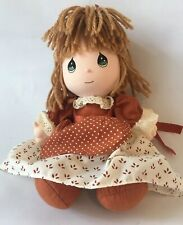 Vintage Precious Moments Applause Girl Doll 1992 Yarn Brown Hair Green Eyes