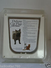 PetSafe's Deluxe White Plastic Cat Flap with Tunnel