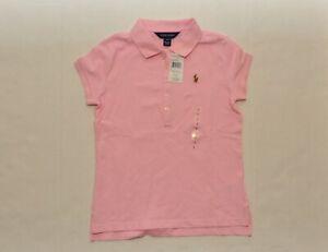 NWT Polo Ralph Lauren Big Girls Short-Sleeve Polo Shirt Pink Size L 12-14