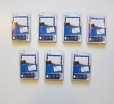 700 AVERY DENNISON BLUE BORDER BADGES NAME TAGS ID LABELS ADHESIVE PEEL LABEL