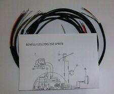 IMPIANTO ELETTRICO ELECTRICAL WIRING MOTO BENELLI MOTOBI SPRITE 125/200/250