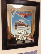1970s Snap-On Tools Collectable Vintage Antique Mirror, First Snap OnTool Truck
