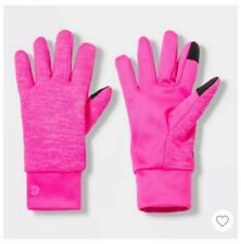 Girls' C9 Champion Solid Neon Pink Stretch Single Layer Gloves Size 4-7 Warm New