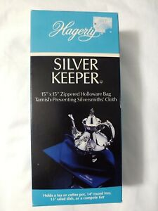 """Hagerty Zippered Silver Keeper 15"""" x 15"""" Holloware Bag In Box Tarnish Preventing"""