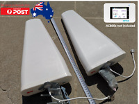 2x 698 - 2700 MHz Outdoor Antennas & 2x 5m cables for Netgear Optus 4G AC800s