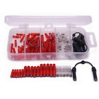 Fishing Jig Rattles tackle box 86pcs lures parts ADD sound Red Transparent