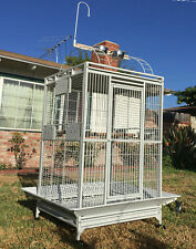 """Extra Large Parrot Cage For Macaw Cockatoo African Grey Amazon 32""""W x 23"""" x 66""""H"""