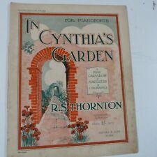 piano music R.S. Thornton in cynthia's garden, 1932, 12pp