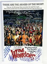"THE WARRIORS Signed Autographed 12X18 Photo ""7 SIGNATURES"" PSA #AE00740"