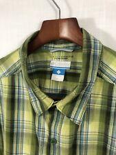 Columbia Men's Shirt 100% Cotton Short Sleeve Button-Front Omni-Shade Xl