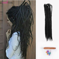 "5pcs 40"" Synthetic Dreadlocks Double Ended Crochet Braid Dreads Hair Extensions"